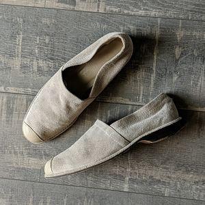 Donald J Pliner Tan Loafer Suede Leather Tip BX150